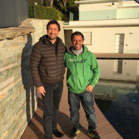 Gian Paolo Budi di Art e Parquet con Loris Capirossi